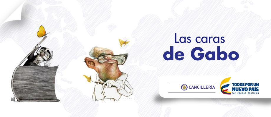 Embajada de Colombia en Italia, Las caras de Gabo, Exposición