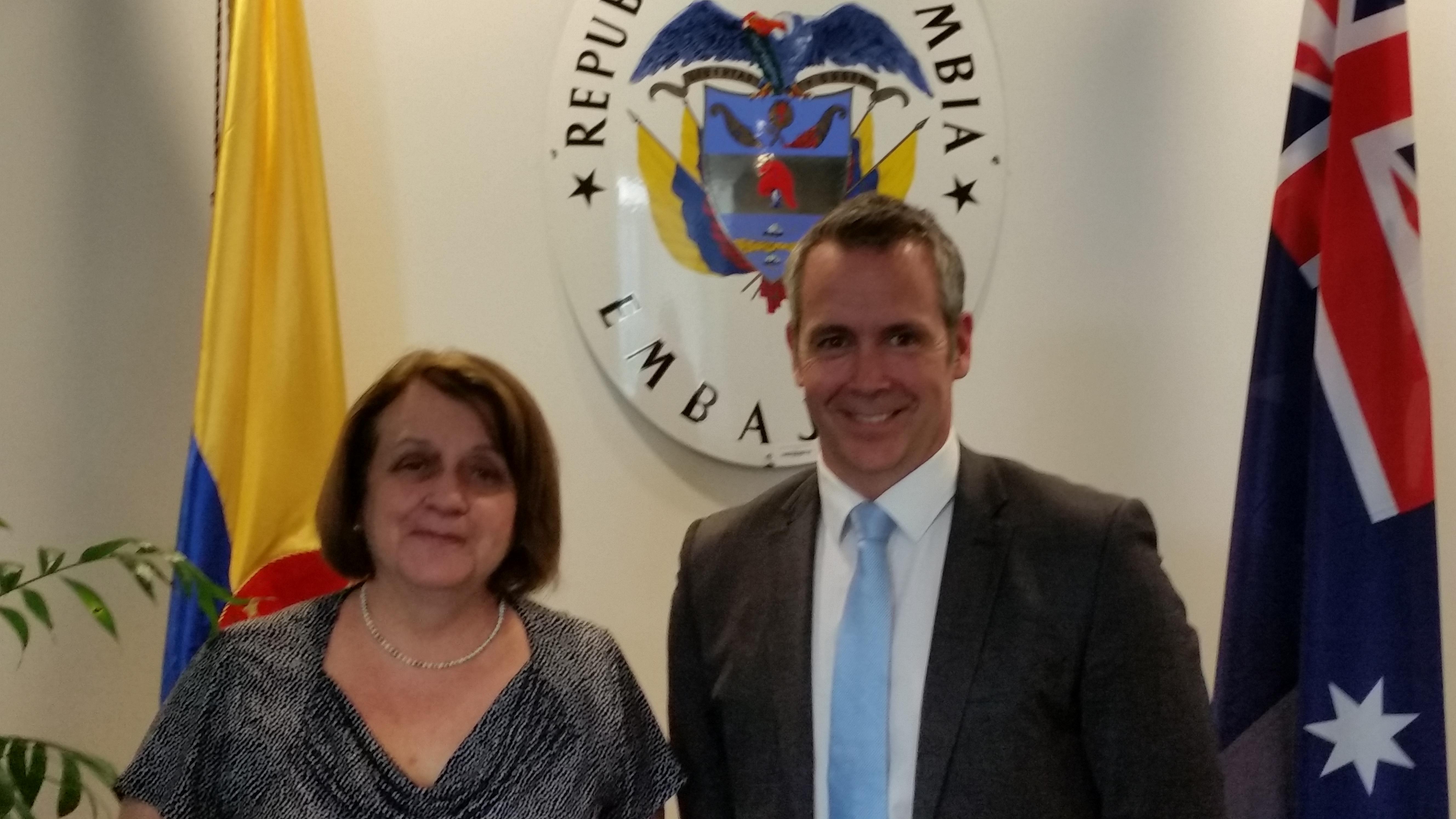 La Embajadora de Colombia en Australia se reunió con asesor de la Universidad de Melbourne para promover la investigación conjunta