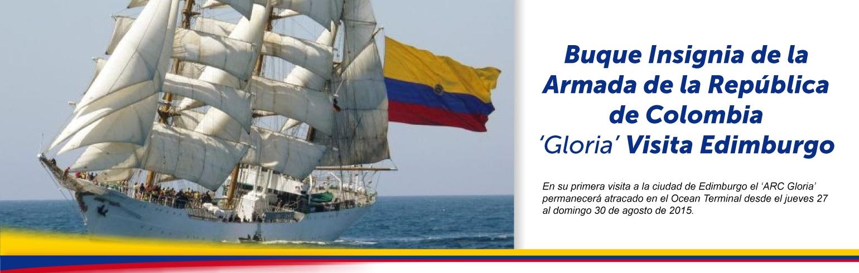 Buque Insignia de la Armada de la República de Colombia 'Gloria' Visita Edimburgo