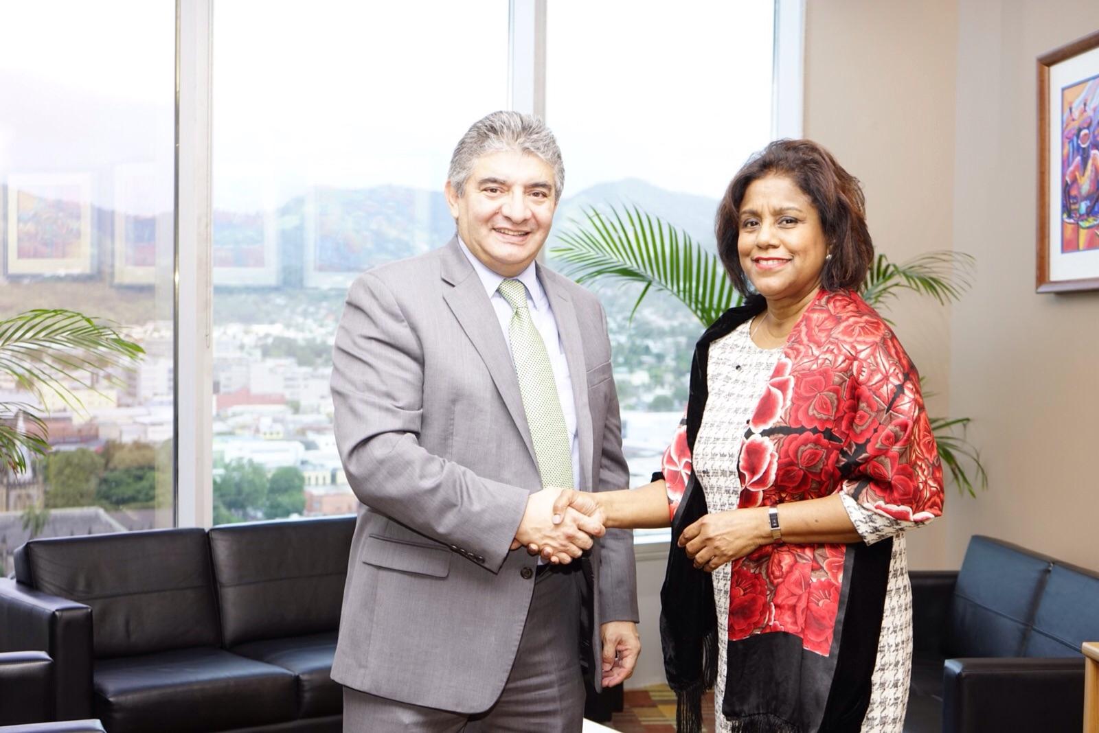 Embajador de Colombia se reunió con la Ministra de Comercio e Industria de Trinidad y Tobago en busca de fortalecer las relaciones comerciales